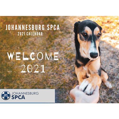 Johannesburg SPCA 2021 Calendar Cover